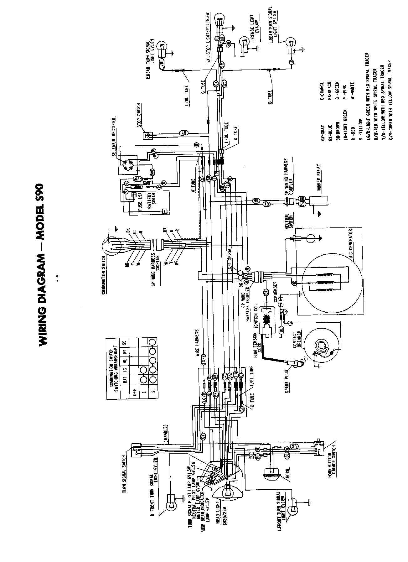 wiring diagrams 1964 s90