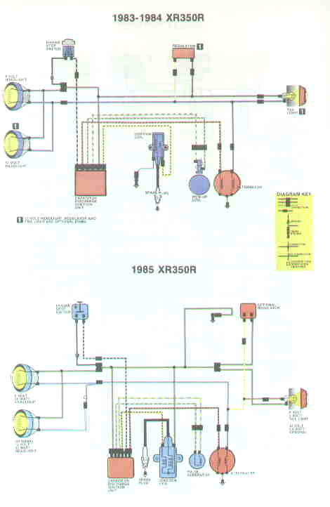 wiring diagrams 1983 1985 xr350r